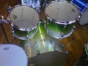 Beautiful Green Pearl Drum Set