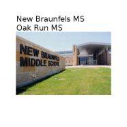 New Braunfels and Oak Run Middle Schools