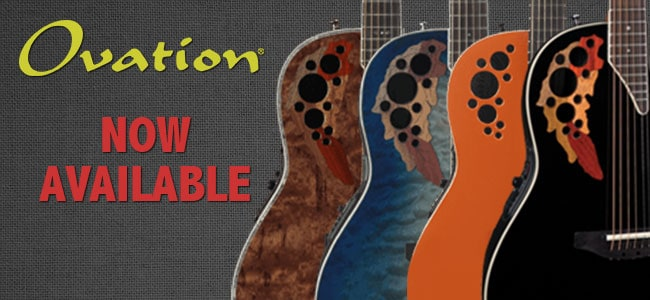 ovation guitars available